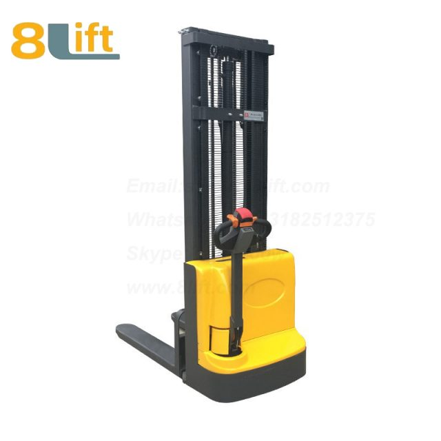 Hydraulic Automatic Battery Powered self propelled pedestrian walkie electric pallet stacker-3-1