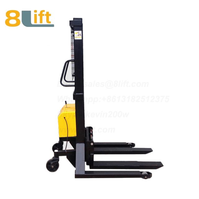 Hydraulic Automatic plug-in ac powered Straddle Leg Adjustable wide width fork scales semi electric pallet stacker-6-1
