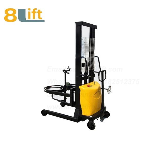 Hydraulic Battery Power Lfit Eagle mouth Clamp Handing Clip Hook Hoop Type Manual Hand Tilting Flip Rotate Oil Drum Semi Electric stacker3-2