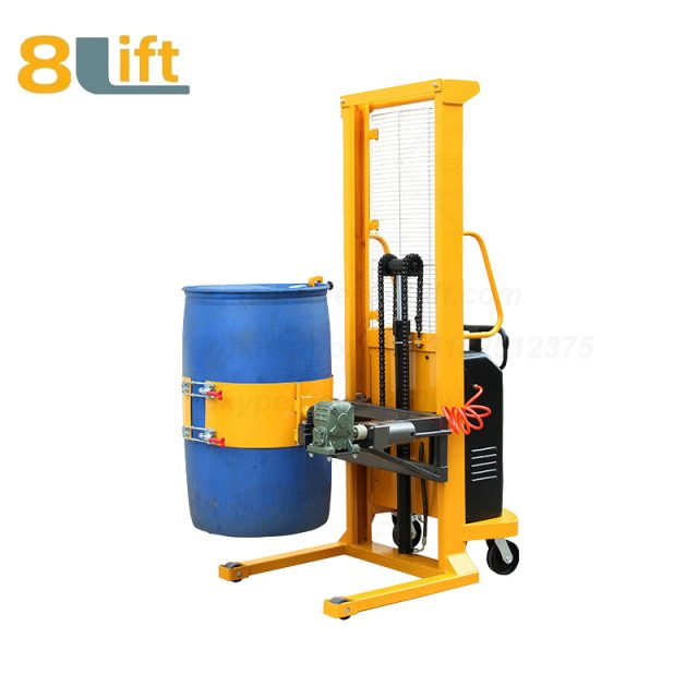 Hydraulic Battery Power Lift Eagle mouth Clamp Handing Clip Hook Hoop Type Electric Automatic Tilting Flip Rotate Oil Drum Semi Electric stacker2-1
