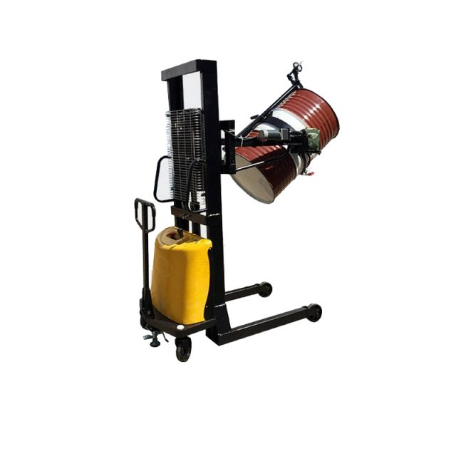 Hydraulic Battery Power Lift Eagle mouth Clamp Handing Clip Hook Hoop Type Electric Automatic Tilting Flip Rotate Oil Drum Semi Electric stacker3-1