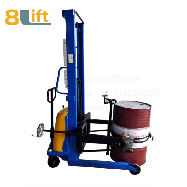 Hydraulic Battery Power Lift Eagle mouth Clamp Handing Clip Hook Hoop Type Manual Hand Tilting Flip Rotate Oil Drum Semi Electric stacker2-1