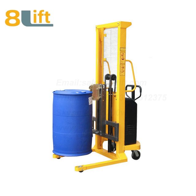 Hydraulic Battery Power Lift Eagle mouth Clamp Handing Clip Hook Oil Drum Semi Electric stacker1