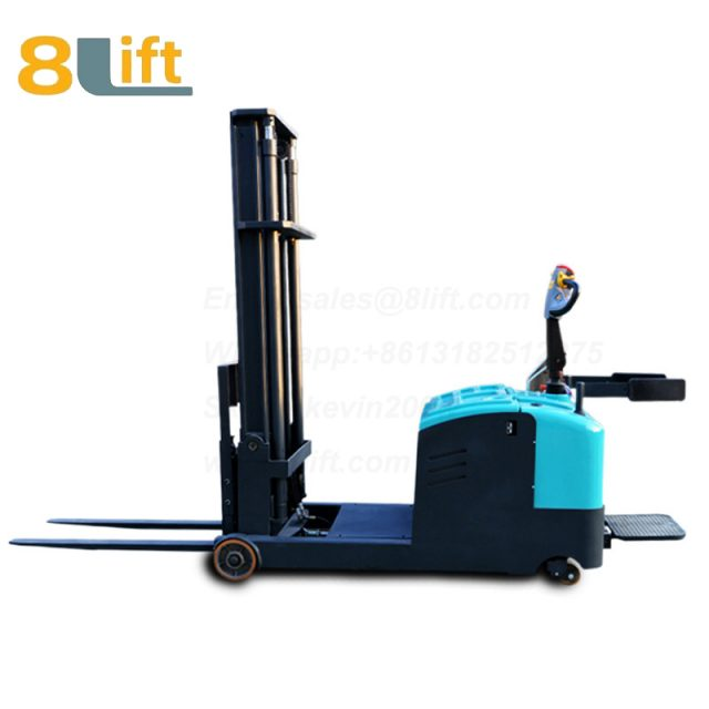 Hydraulic Counterweight Counter Balance stand standing on driving Full electric stacker-5-1