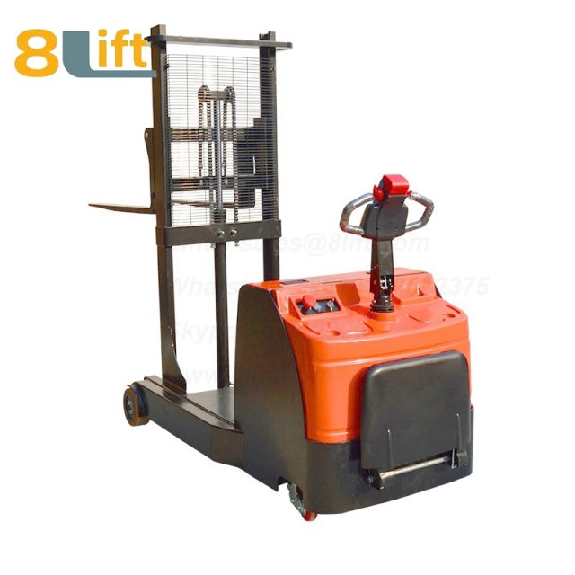 Hydraulic Counterweight Counter Balance stand standing on driving Full electric stacker-6-1