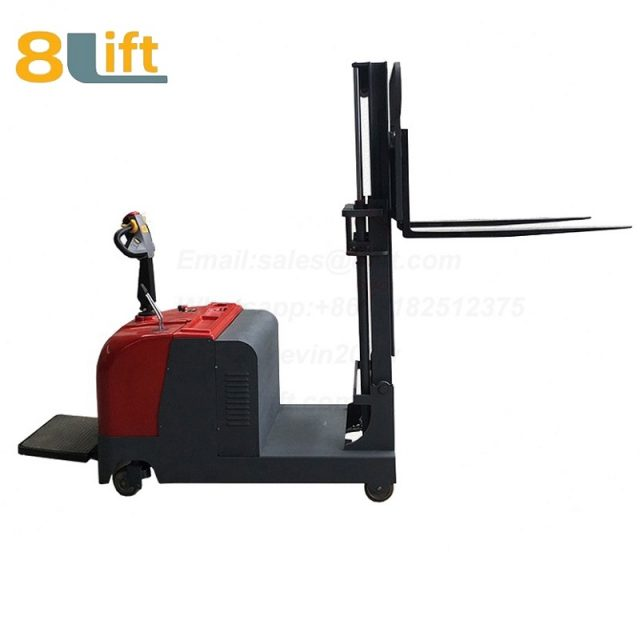 Hydraulic Counterweight Counter Balance stand standing on driving Full electric stacker-7-1