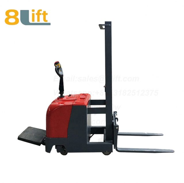Hydraulic Counterweight Counter Balance stand standing on driving Full electric stacker-8-1