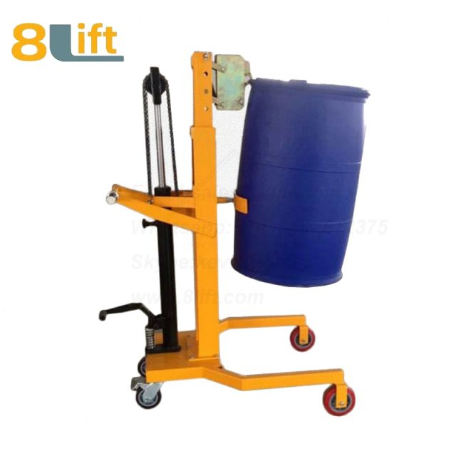 Hydraulic Foot Press Step On Cylinder Barrel Oil Drum Trolley Car DTF450A-2-1