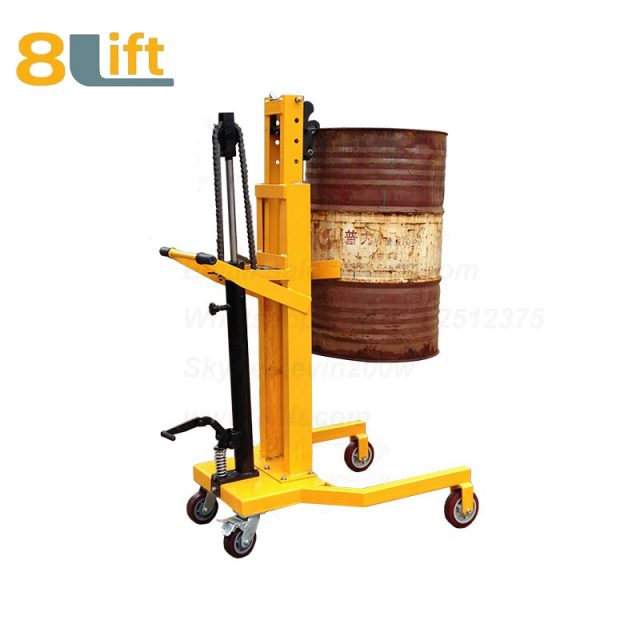 Hydraulic Foot Press Step On Cylinder Barrel Oil Drum Trolley Car DTF450A-3-1