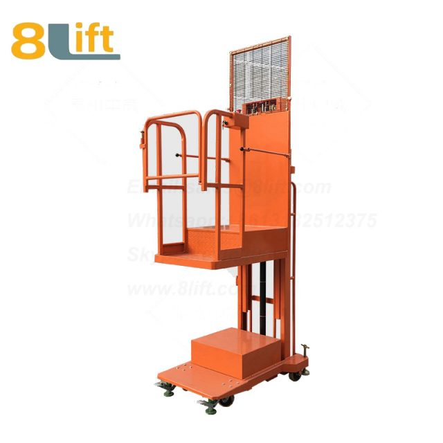 Hydraulic Manned Semi electric platform High altitude order picking picker stacker reclaimer-1-1
