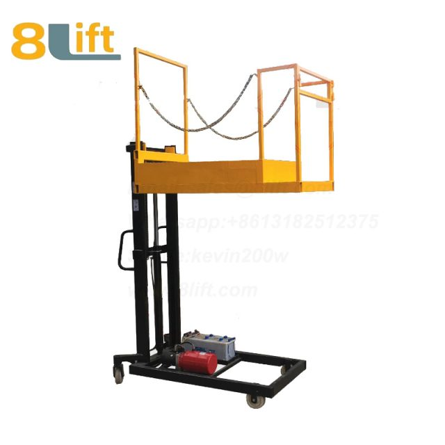 Hydraulic Manned Semi electric platform High altitude order picking picker stacker reclaimer-2-1