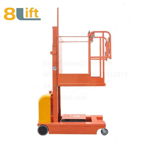 Hydraulic Manned Semi electric platform High altitude order picking picker stacker reclaimer-3-1