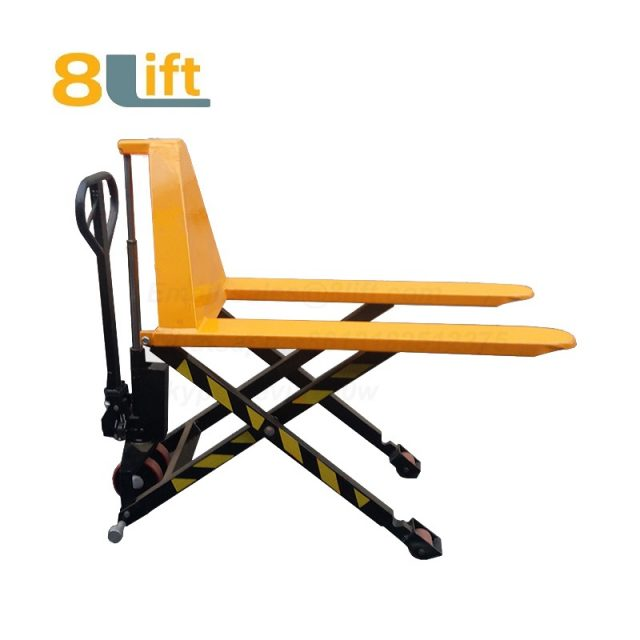 Hydraulic Manual Hand operated high lift scissor pallet jack pallet truck-4-1