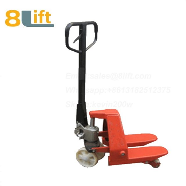 Hydraulic Manual Hand operated lift Super Short Length fork Pallet Jack Pallet Truck-3-1