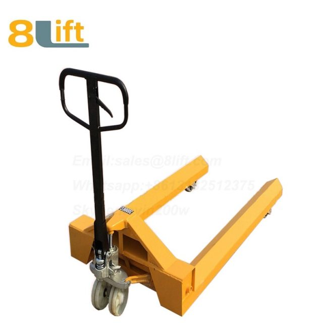 Hydraulic Manual Hand operated lift steel coil roll paper roll yarn roller pallet jack Pallet Truck-9-1