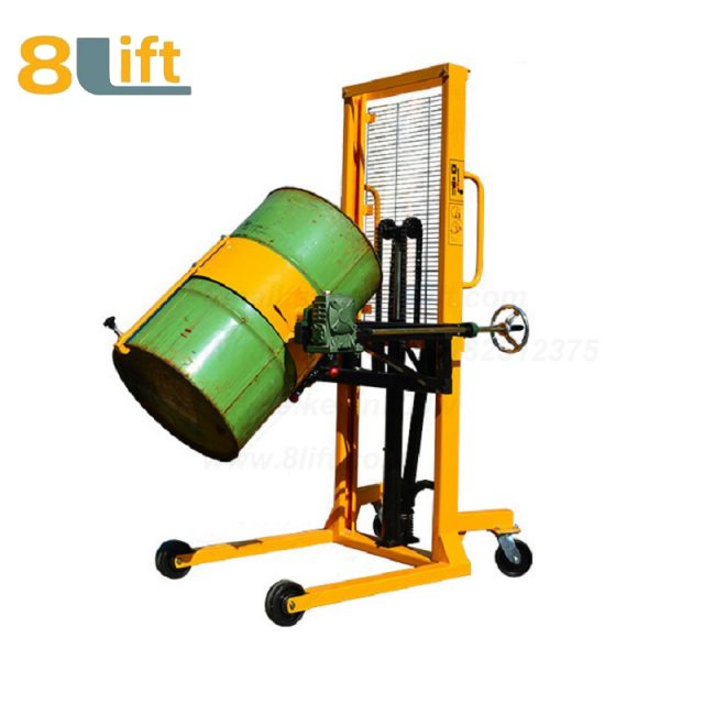 Hydraulic Manual Lift Eagle mouth Clamp Handing Clip Hook Hoop Type Manual Tilting Flip Rotate Oil Drum stacker2-1