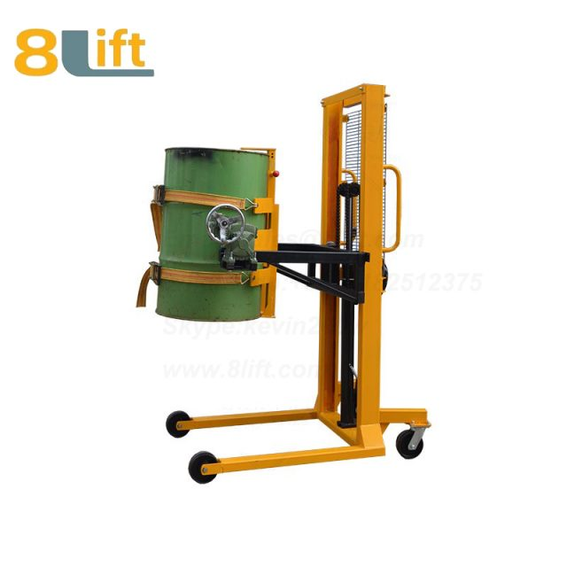 Hydraulic Manual Lift Eagle mouth Clamp Handing Clip Hook Hoop Type Manual Tilting Flip Rotate with Tied strap band Oil Drum stacker1