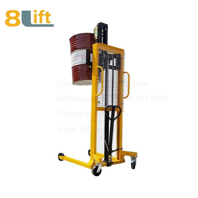 Hydraulic Manual Lift Eagle mouth Clamp Handing Clip Hook Hoop Type Oil Drum stacker1
