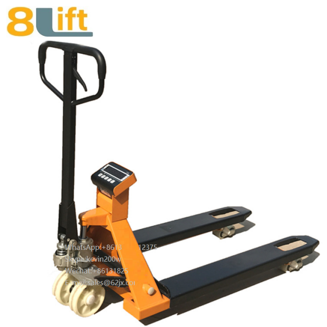 Hydraulic Manual hand operated lift pallet jack weight scale electric Pallet Truck-2-1