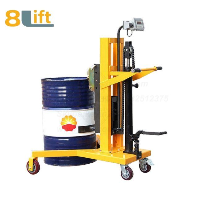 Hydraulic Right Angle Leg Foot Press Step On Scale Cylinder Barrel Oil Drum Trolley Car-1