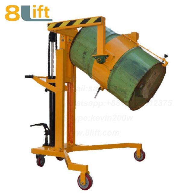 Hydraulic Right Angle Leg Foot Press Step On Tilting Flip Rotate Cylinder Barrel Oil Drum Trolley Car-1
