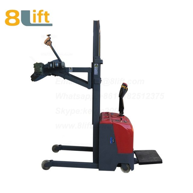Hydraulic Standing Drive Battery Power Lift Rotate Clamp Handing Clip Hook Hoop Type Electric Automatic Tilting Flip Rotate Oil Drum Electric stacker2-1