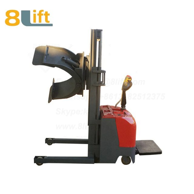 Hydraulic Standing Drive Battery Power Lift Rotate Clamp Handing Clip Oil Drum Electric stacker1
