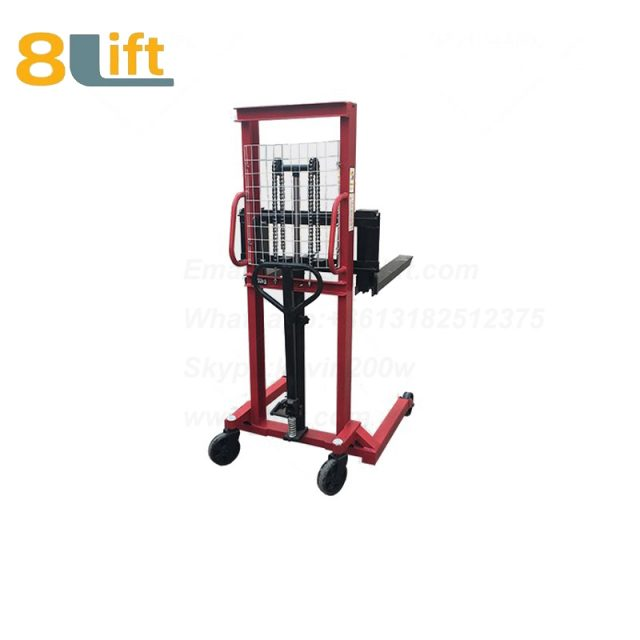 Hydraulic Straddle Leg Adjustable width fork Manual stacker-7-1