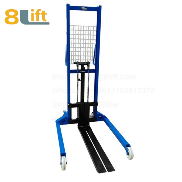 Hydraulic Straddle Leg Adjustable width fork Manual stacker-8-1