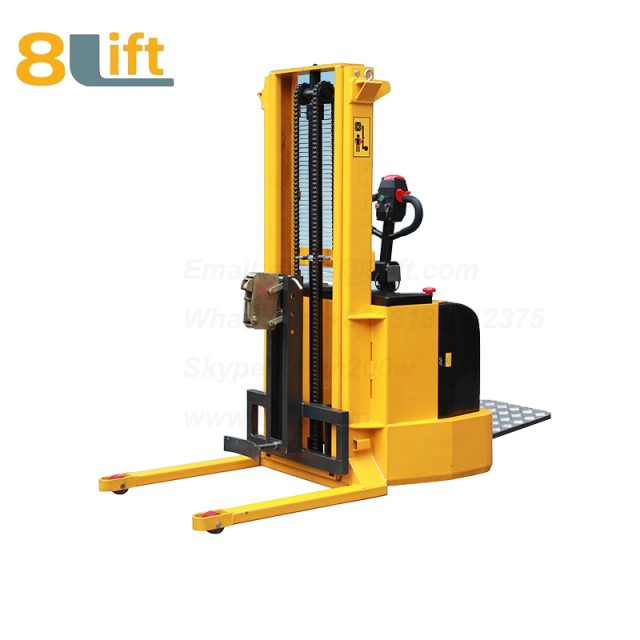 Hydraulic Straddle Leg Standing drive Battery Power Lift and Move Eagle mouth Clamp Handing Clip Hoop Type Oil Drum Electric stacker1