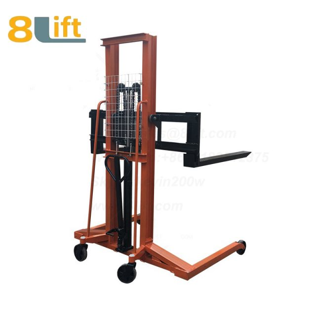 Hydraulic Straddle Leg big large width fork manual stacker-1
