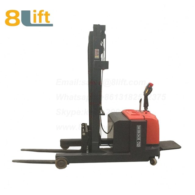 Hydraulic forward reach stand standing on driving full Electric stacker-10-1