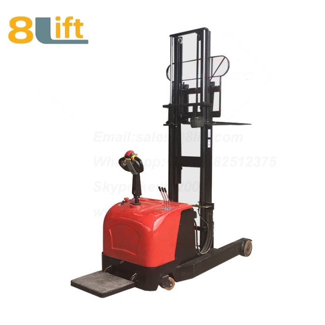 Hydraulic forward reach stand standing on driving full Electric stacker-11-1