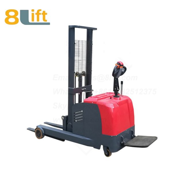 Hydraulic forward reach stand standing on driving full Electric stacker-2-1