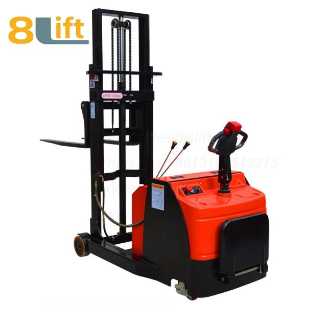 Hydraulic forward reach stand standing on driving full Electric stacker-4-1
