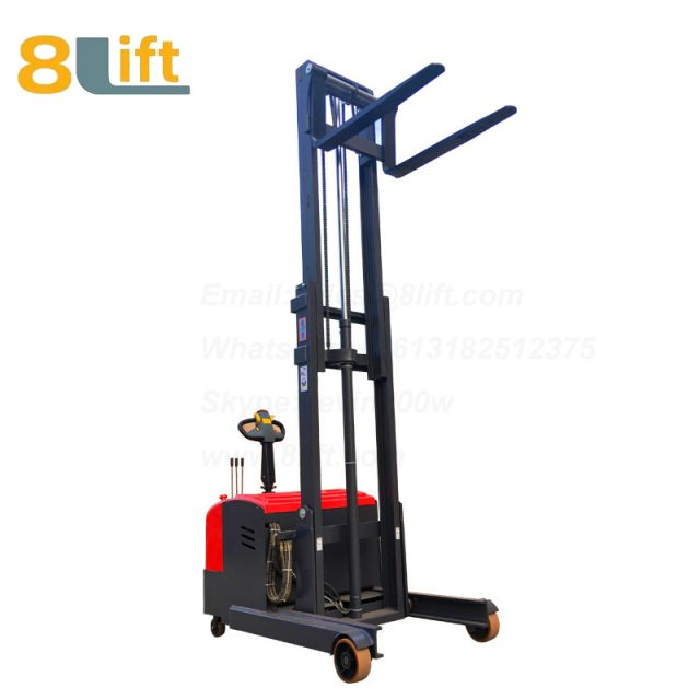Hydraulic forward reach stand standing on driving full Electric stacker-5-1