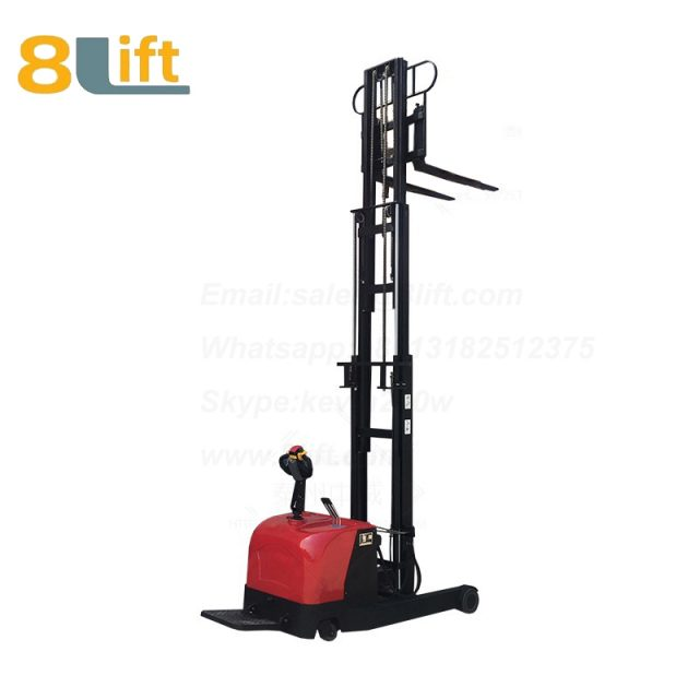 Hydraulic forward reach stand standing on driving full Electric stacker-6-1