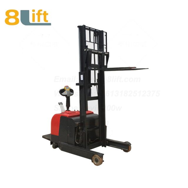 Hydraulic forward reach stand standing on driving full Electric stacker-8-1