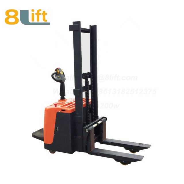 Hydraulic stand standing on driving full electric stacker-11-1