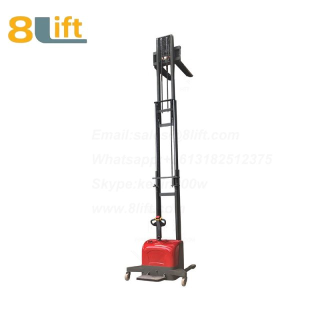 Hydraulic stand standing on driving full electric stacker-13-1