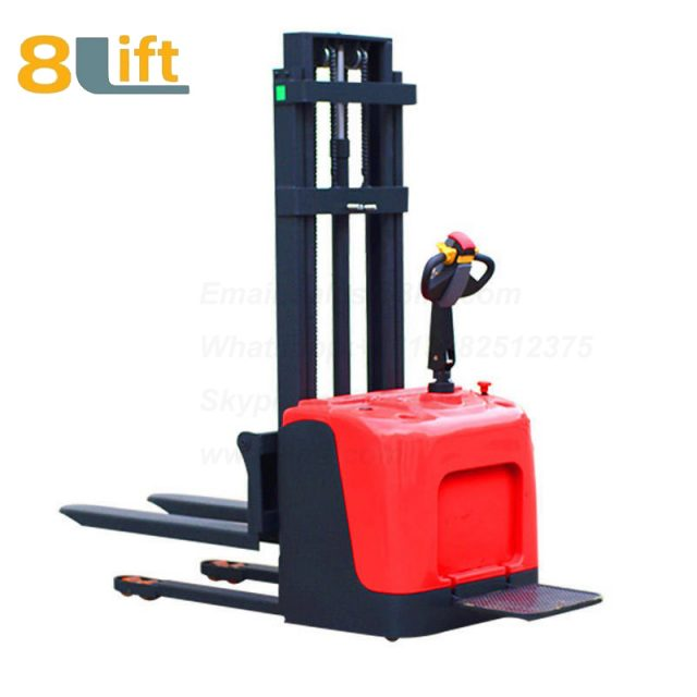 Hydraulic stand standing on driving full electric stacker-3-1