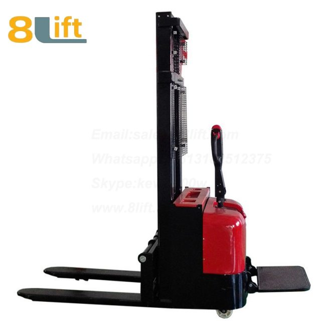 Hydraulic stand standing on driving full electric stacker-6-1