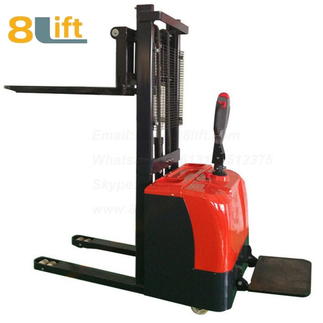 Hydraulic stand standing on driving full electric stacker-7-1