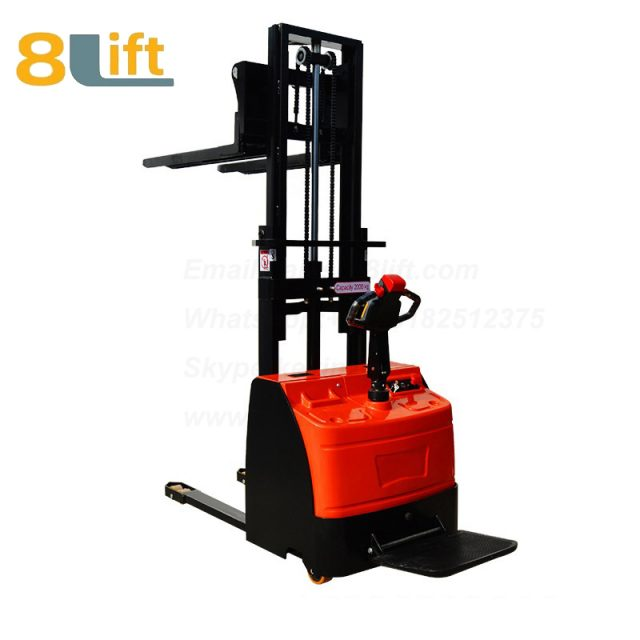 Hydraulic stand standing on driving full electric stacker-8-1