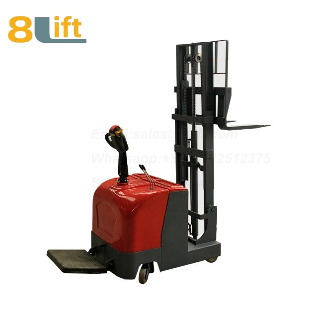Hydraulic stand standing on driving full electric stacker-9-1
