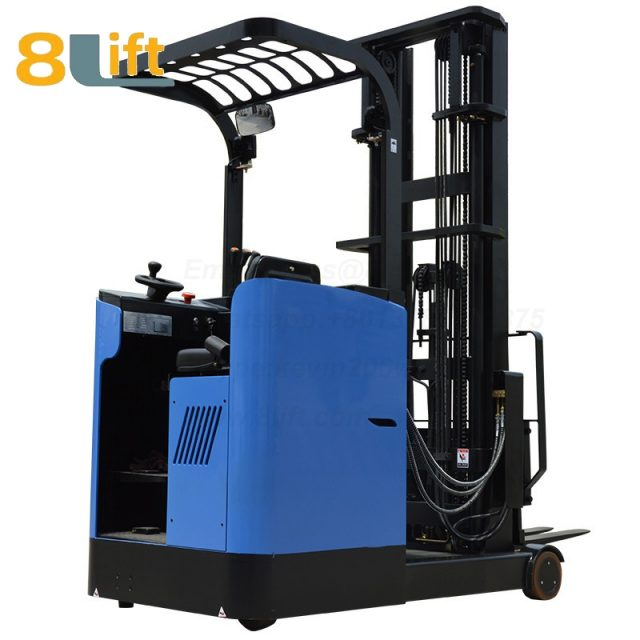 Hydraulic stand up rider on very narrow aisle turret reach forklift truck electric stacker-1