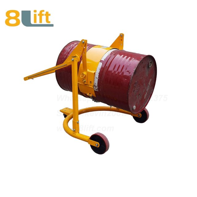 Stainless Steel Mechanical Manual Hand Operated Move Lift iron Chain Hoop Type Tilting Flip Rotate Oil Drum Truck Trolly Trolley