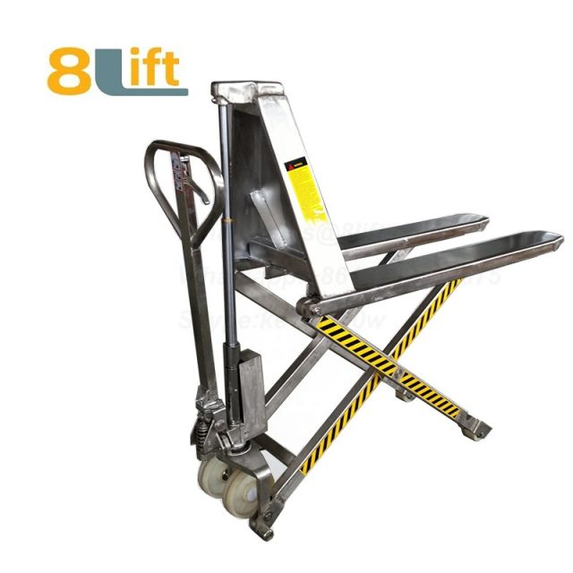 Stainless steel Hydraulic Manual Hand operated high lift scissor pallet jack pallet truck-1-1