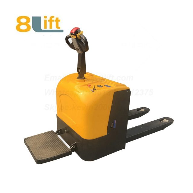 Stand Standing on Driving Drive Hydraulic Automatic move and lift battery powered self propelled Pallet jack Full All electric Pallet Truck-11-1