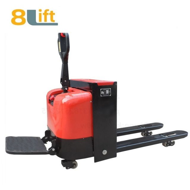 Stand Standing on Driving Drive Hydraulic Automatic move and lift battery powered self propelled Pallet jack Full All electric Pallet Truck-5-1